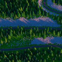Serpentyna górska widziana z góry
