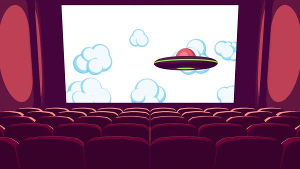 Film wyświelany w kinie.