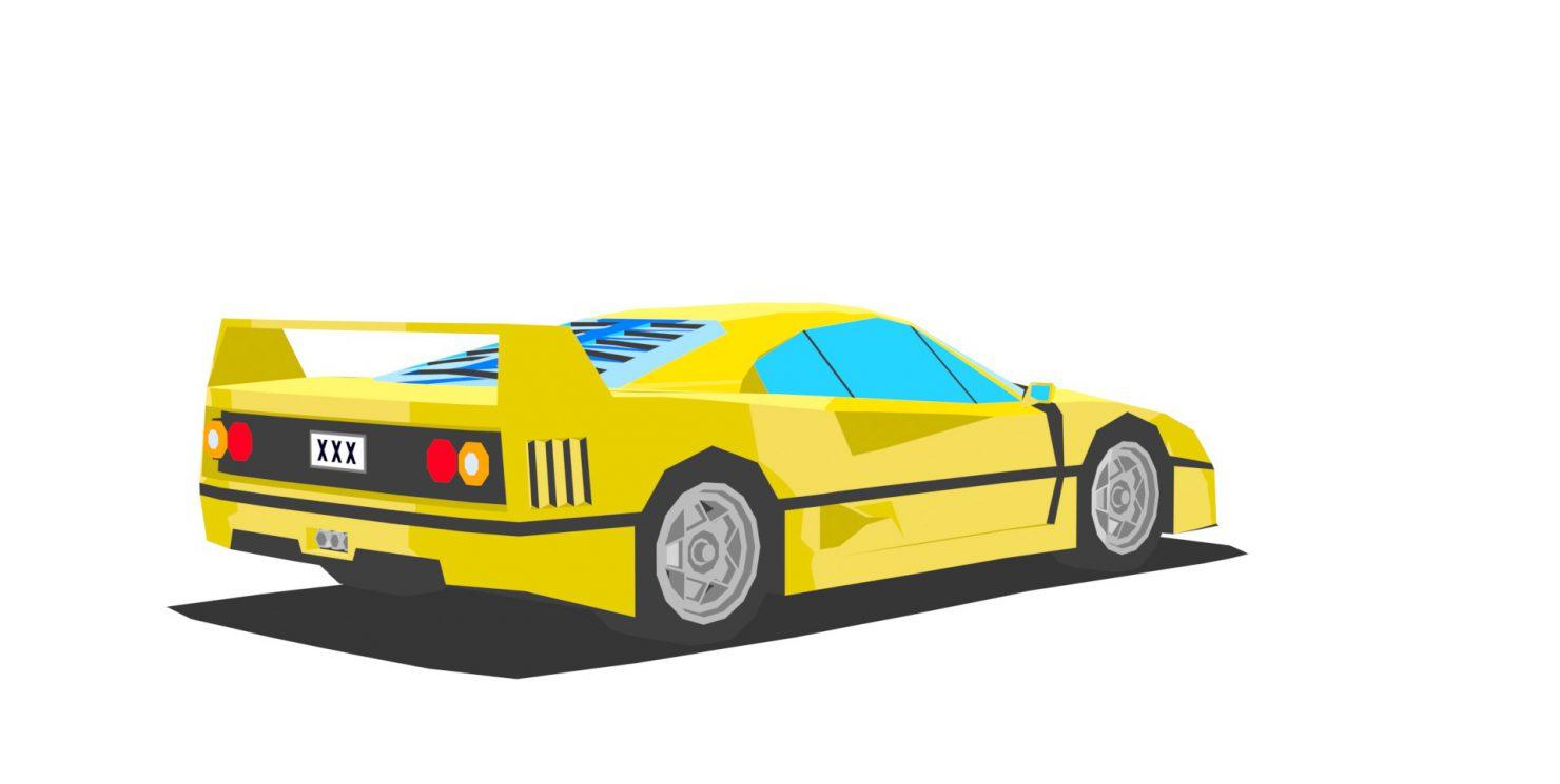 Ferrari F40 – low poly